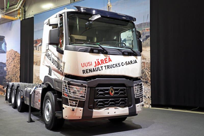 Wit Renault Trucks C voor Bouw stock afbeeldingen