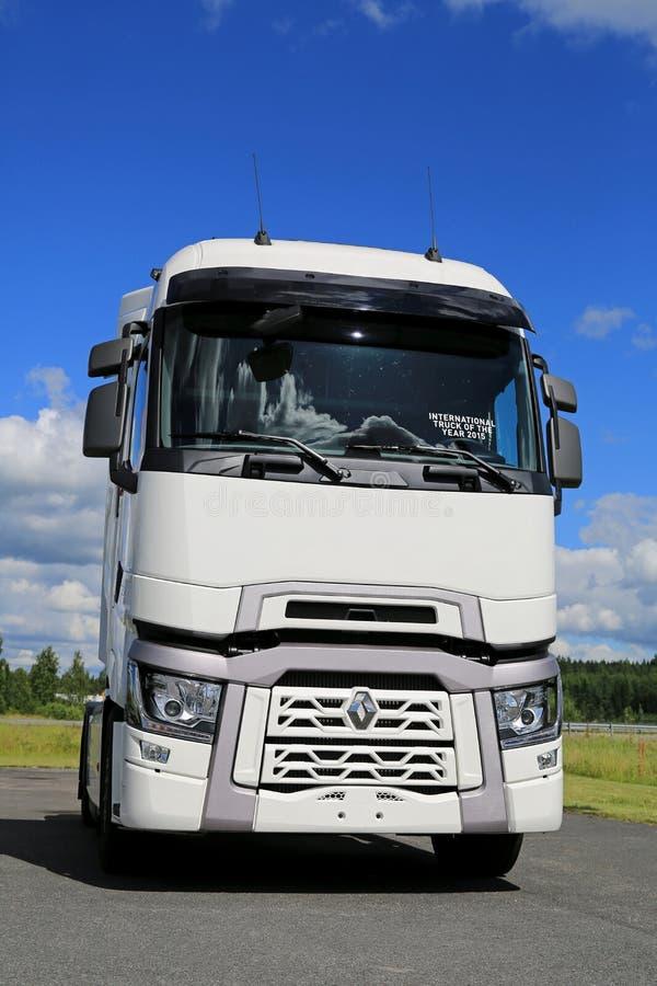 Wit Renault Trucks T met Hoge Dwarsbalkcabine royalty-vrije stock foto