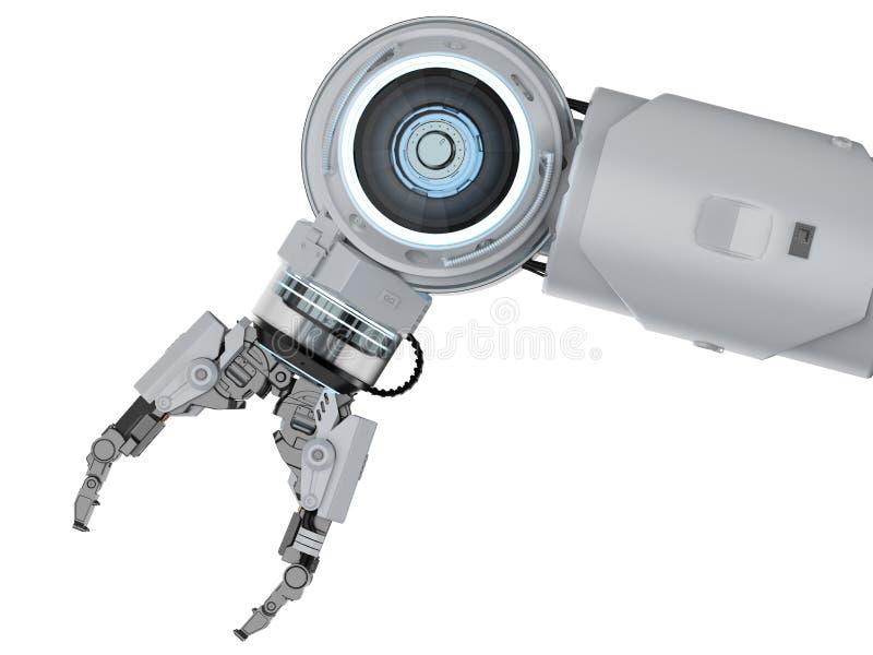 Wit robotachtig wapen vector illustratie