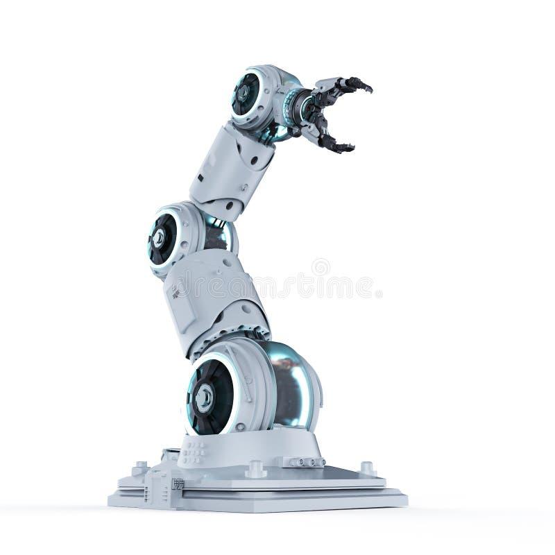 Wit robotachtig wapen stock illustratie
