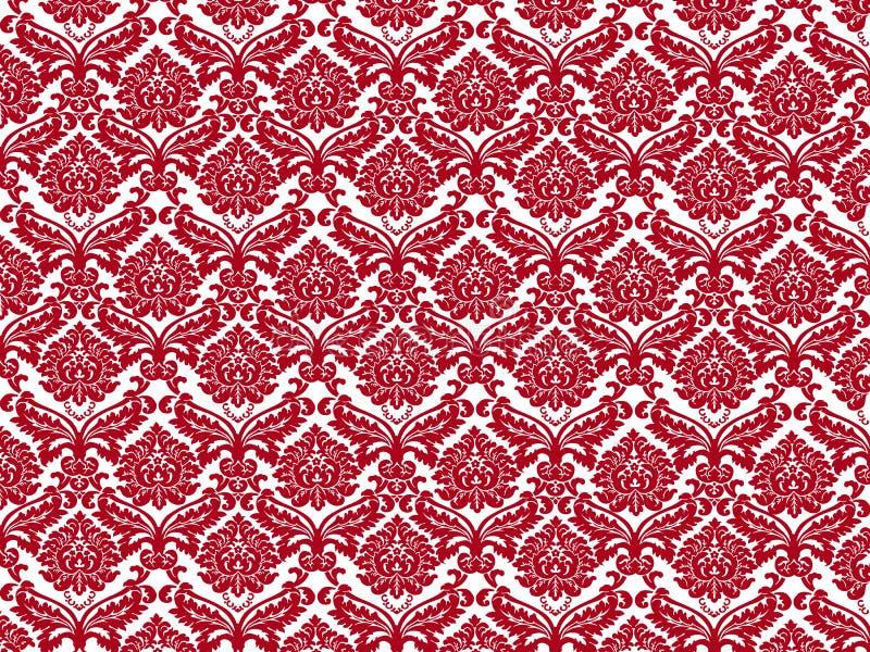 Wit rood behang royalty-vrije illustratie