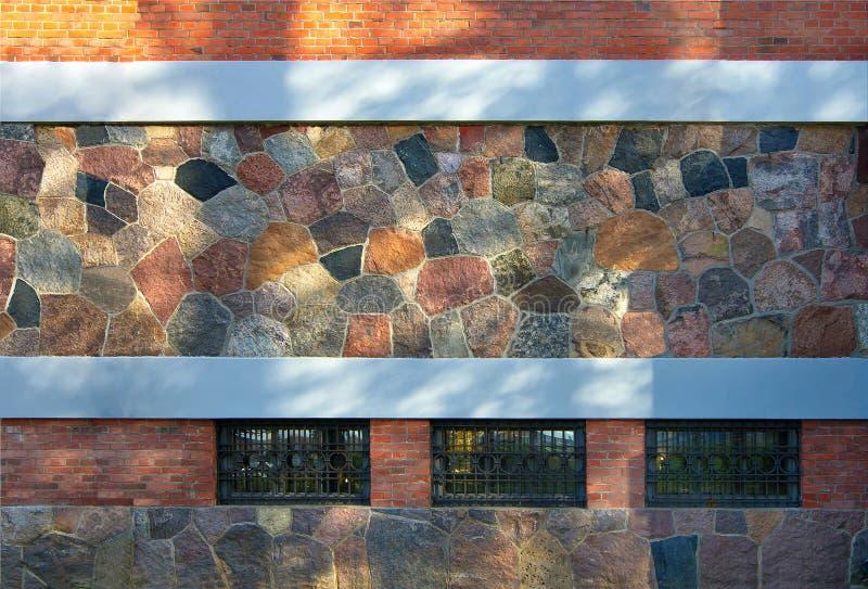 wit-rusland Detail van de voorgevel van het gebouw royalty-vrije stock afbeeldingen