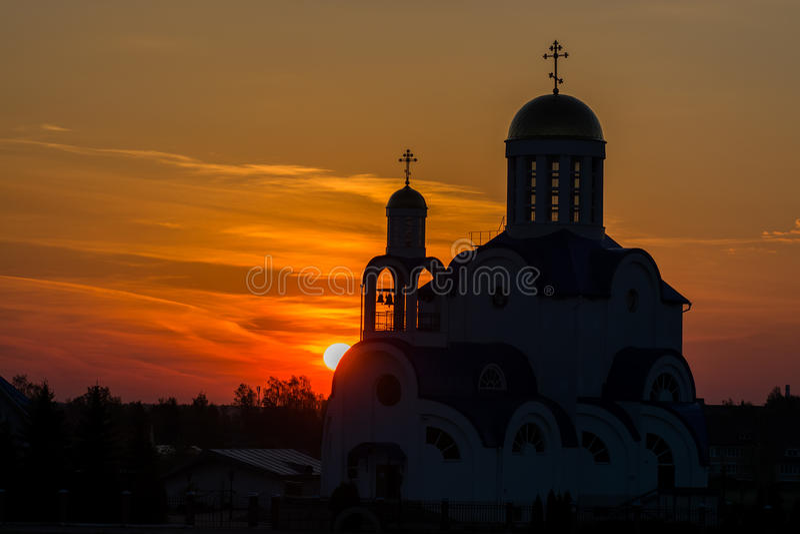 Wit-Rusland, g Zhodino, kerk, stock afbeelding