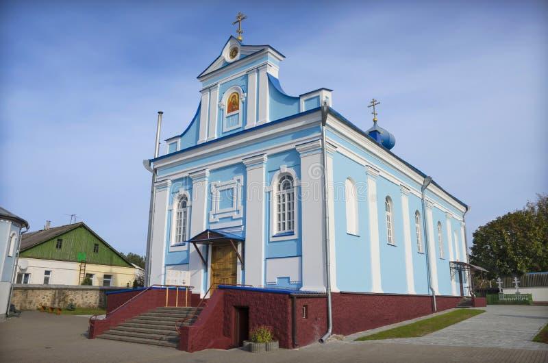 Wit-Rusland, Stolbtsy: orthodoxe kerk van St Ann stock afbeelding