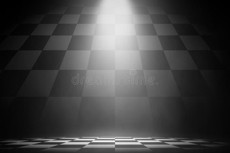 Wit schijnwerperstadium op de het rennen achtergrond vector illustratie