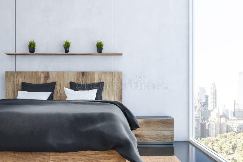 Wit slaapkamerbinnenland stock illustratie