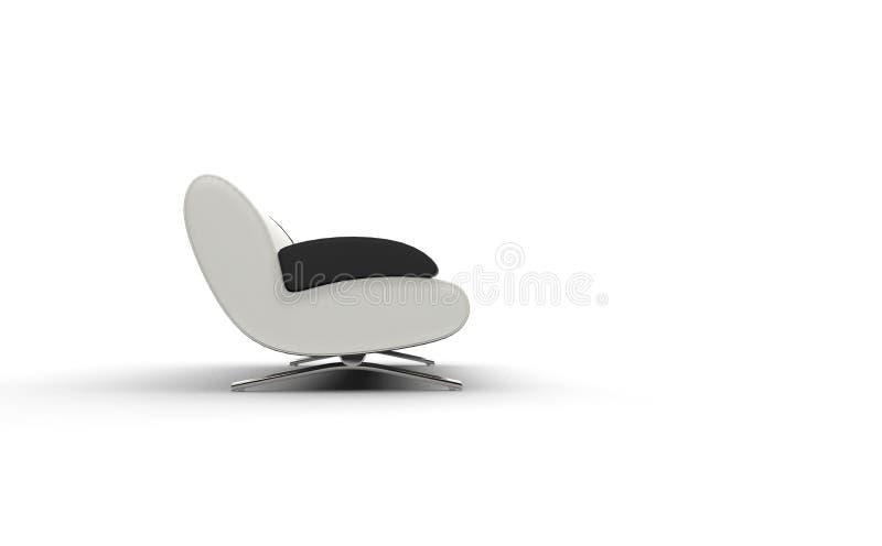 Wit Sofa With Black Armrest vector illustratie