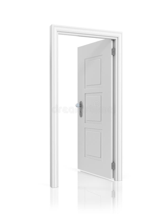 Wit spatie geopend deurmalplaatje, vector illustratie