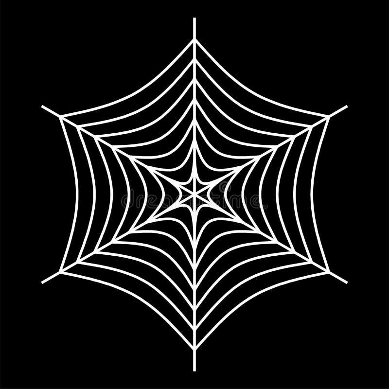 wit spinneweb - Spinnewebvector op zwarte achtergrond - illustratie stock illustratie