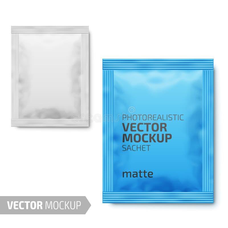 Wit steendocument sachet Vector 3d illustratie royalty-vrije illustratie