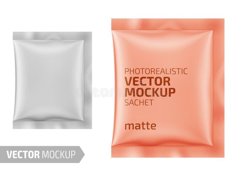 Wit steendocument sachet Vector 3d illustratie royalty-vrije stock foto's
