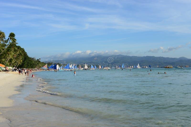 Wit strand Filippijnen royalty-vrije stock foto