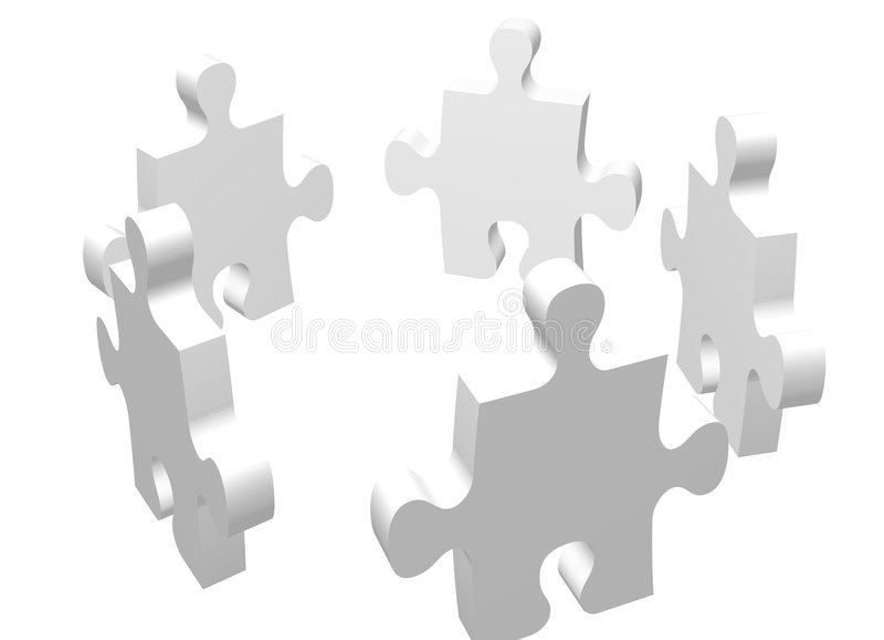 Wit team stock illustratie