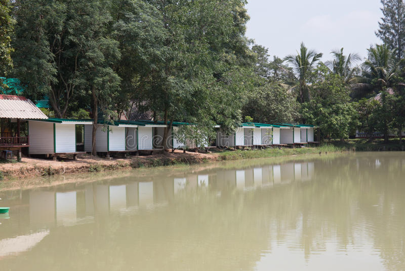 Wit Thais huis stock foto