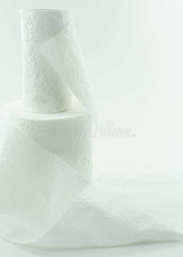 Wit Toiletpapier stock foto's