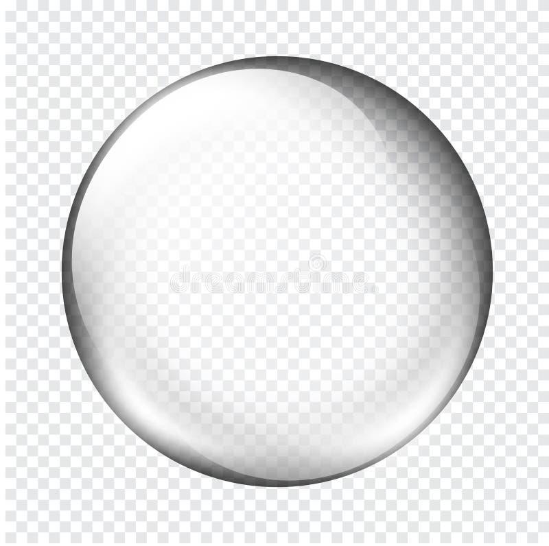 Wit transparant glasgebied met glans en hoogtepunten royalty-vrije illustratie