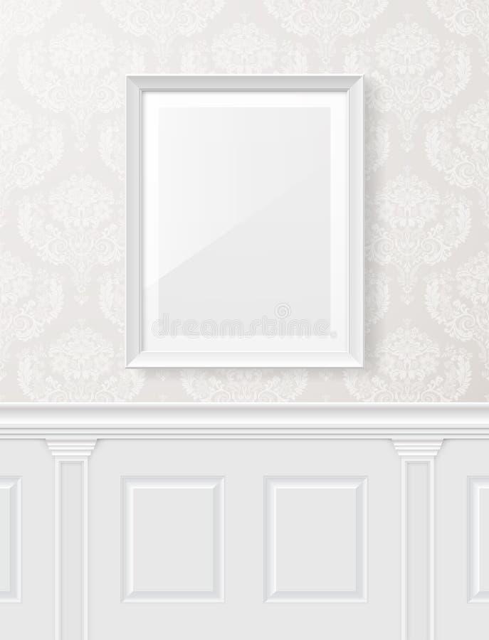 Wit uitstekend binnenland stock illustratie