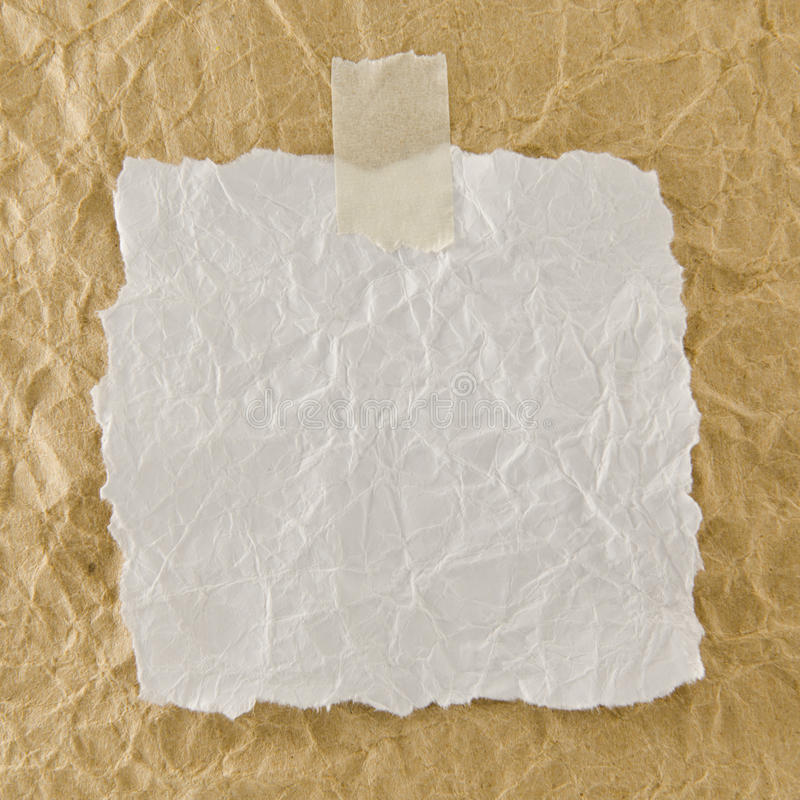 Wit verfrommeld document royalty-vrije stock afbeelding