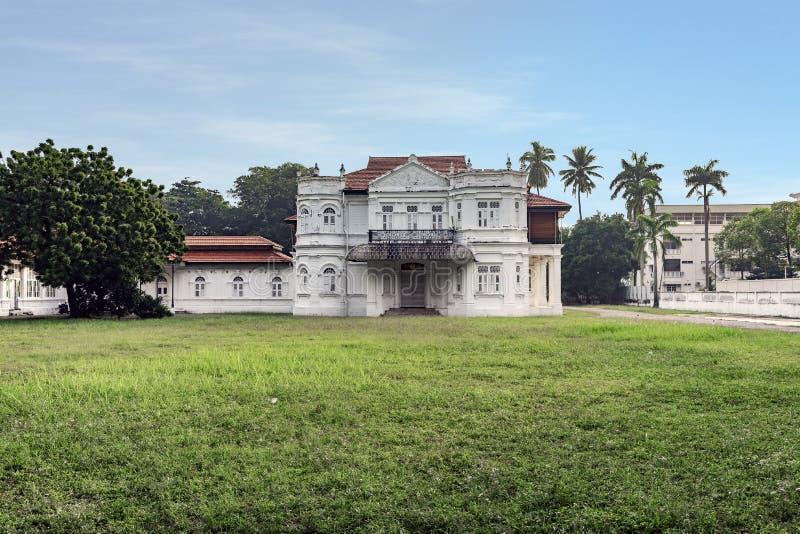 Wit Victoriaans Huis royalty-vrije stock afbeelding