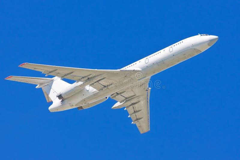 Wit Vliegtuig royalty-vrije stock foto