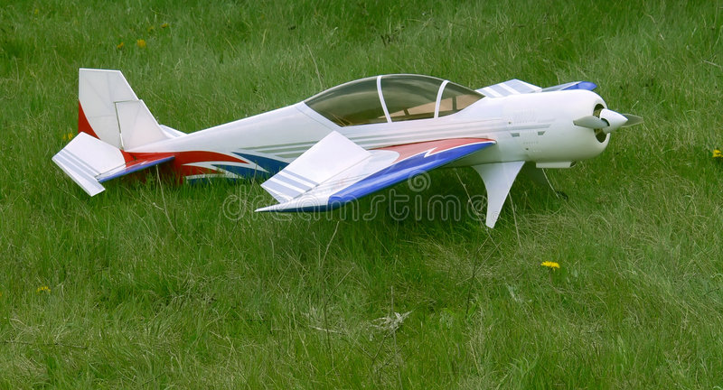 Wit vliegtuigmodel stock foto