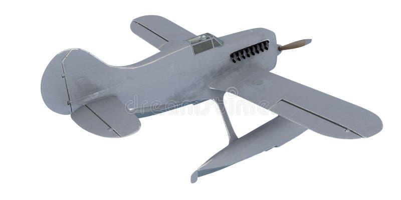 Wit watervliegtuig 3d geef terug stock illustratie