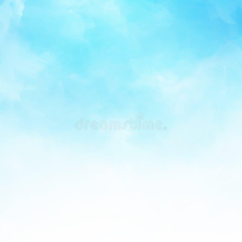 Wit wolkendetail op de blauwe mede achtergrond van de hemelillustratie