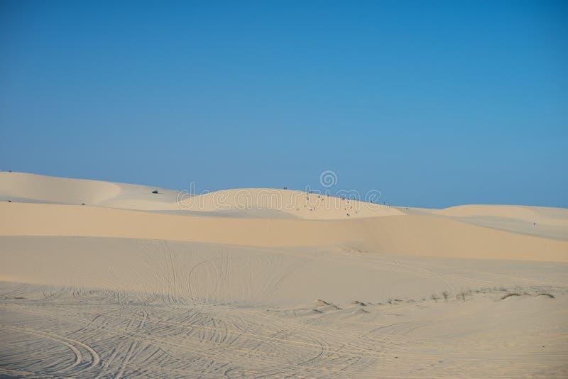 Wit zandduin Mui Ne Vietnam royalty-vrije stock afbeeldingen