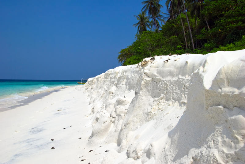 Wit zandstrand stock afbeelding