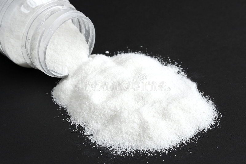 Wit zout stock fotografie