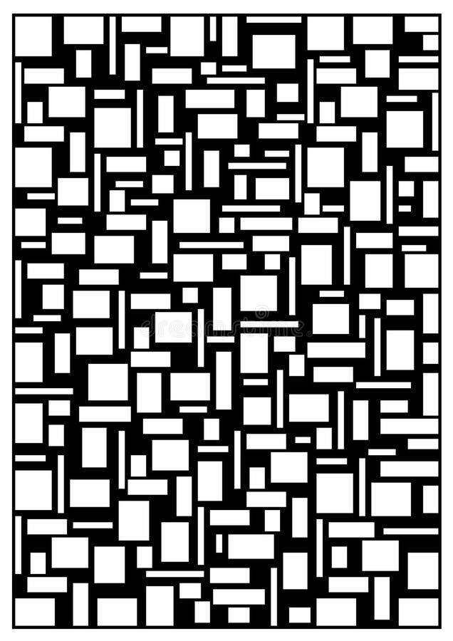Wit-zwart abstract concept royalty-vrije stock afbeeldingen