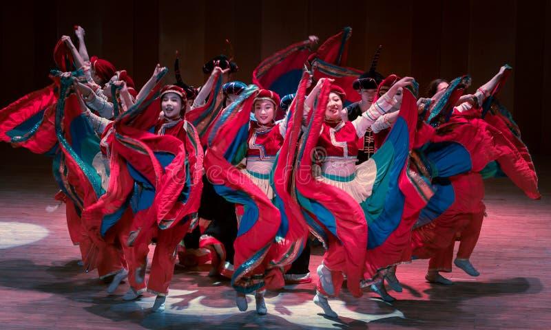 Wita tana dramata Axi Yi ludowego tana zdjęcie royalty free