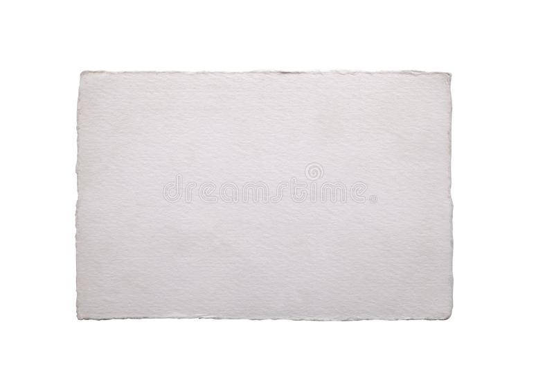 Witający białego starego rocznika pustego papieru prześcieradło odizolowywającego na białym tle z ścinek ścieżką i kopii przestrz obrazy royalty free