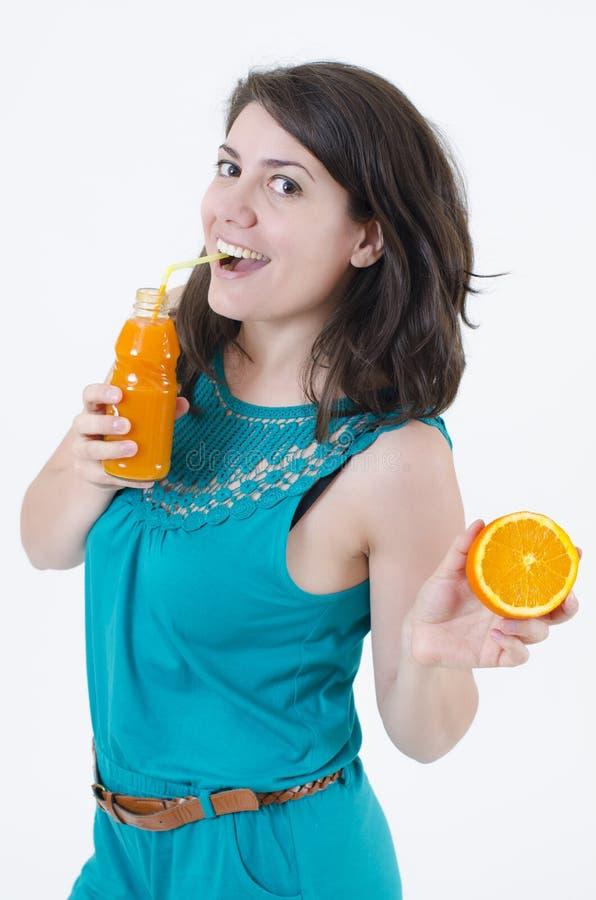 Witaminy od pomarańcz fotografia stock