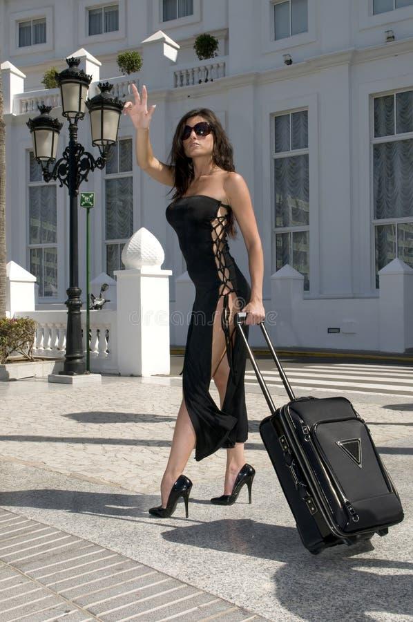 witamy mody taksówki kobiety zdjęcie royalty free