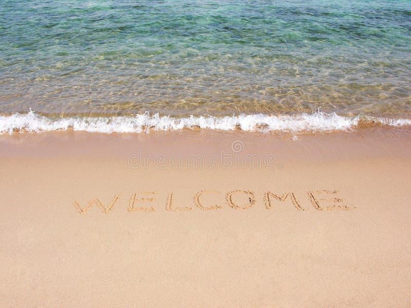 witamy na plaży zdjęcia stock