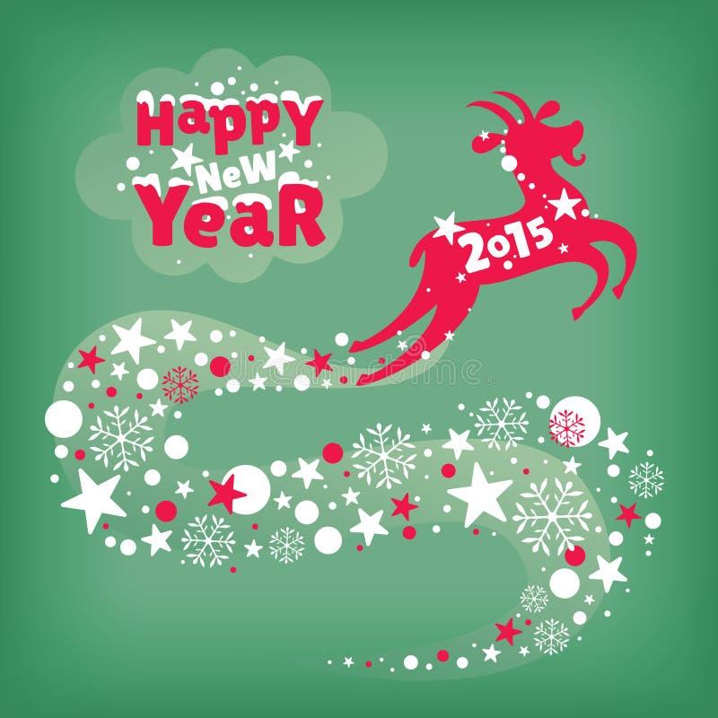 witamy w karty nowego roku royalty ilustracja