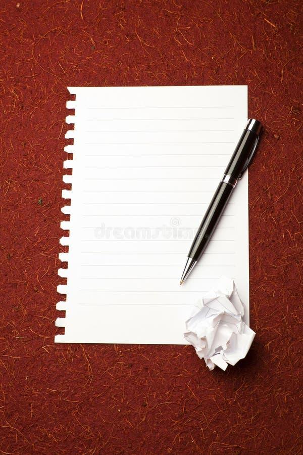 Witboek klaar voor het schrijven royalty-vrije stock foto