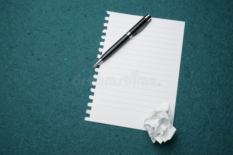 Witboek klaar voor het schrijven royalty-vrije stock afbeeldingen