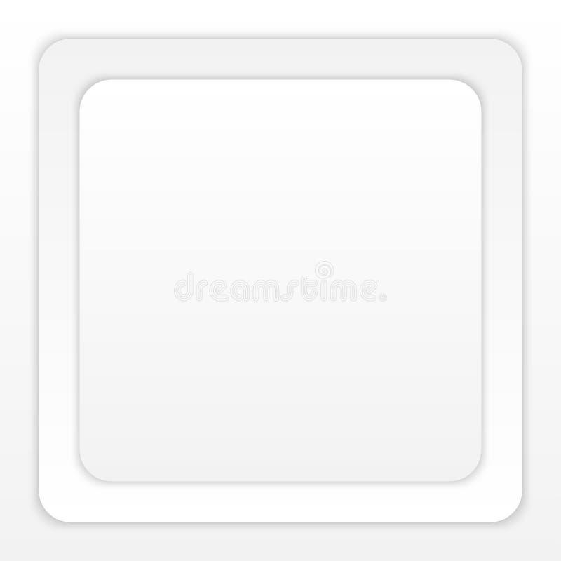 Witboek om Vierkant met Schaduw op Witte Achtergrond stock illustratie