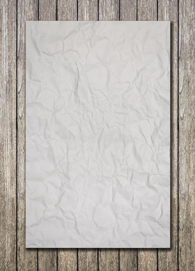 Download Witboek op houten vloer stock afbeelding. Afbeelding bestaande uit nota - 39117495