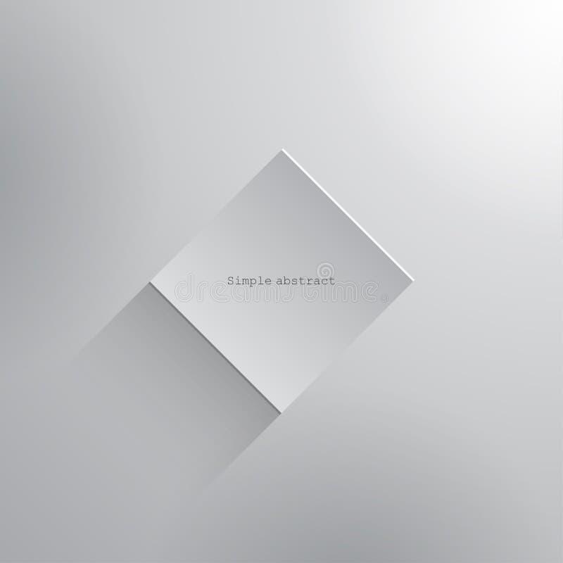 Witboek vierkant geometrisch element met schaduw stock illustratie