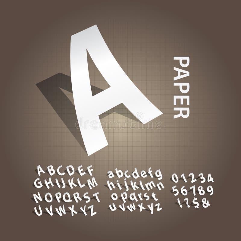 Witboekalfabet en Aantallenvector vector illustratie