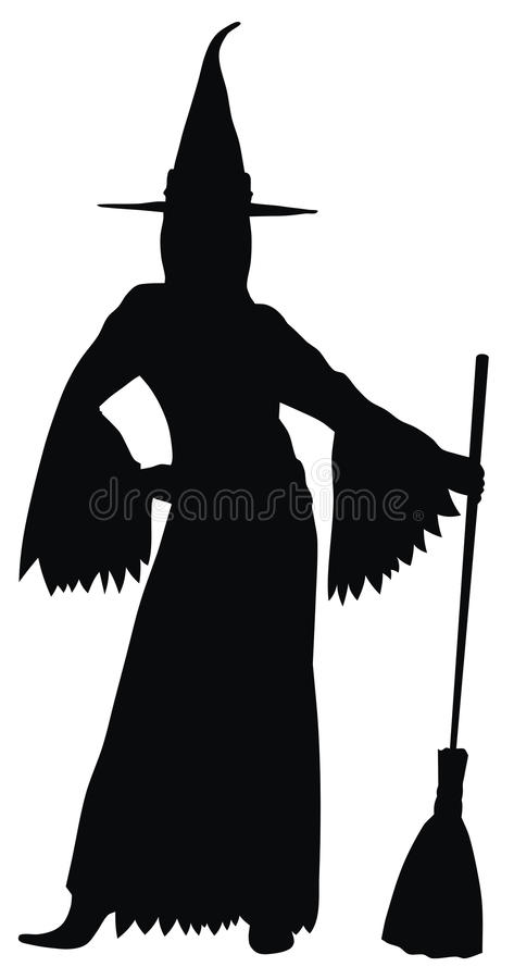 Witch. Abstract vector illustration of witch silhouette royalty free illustration
