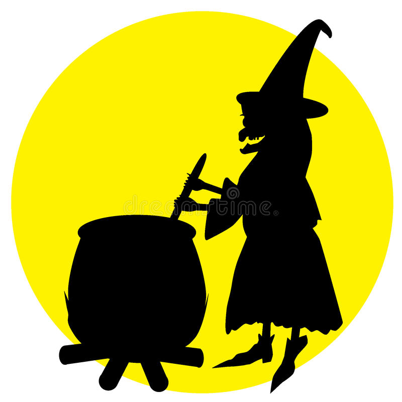 Witch stock illustration