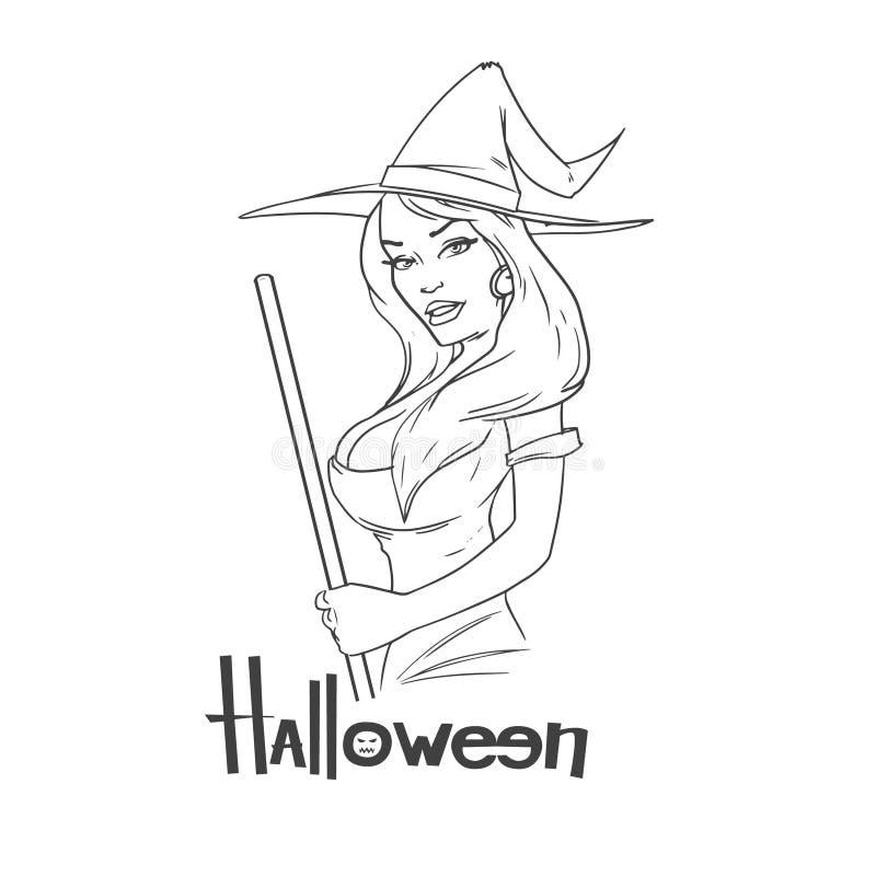 Witch5 vector illustratie