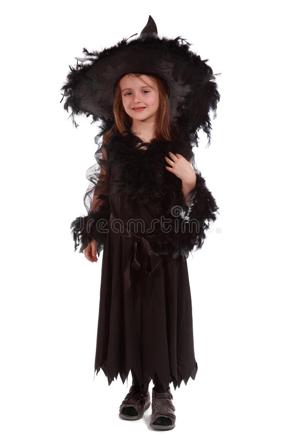 Witch in black dress royalty free stock image