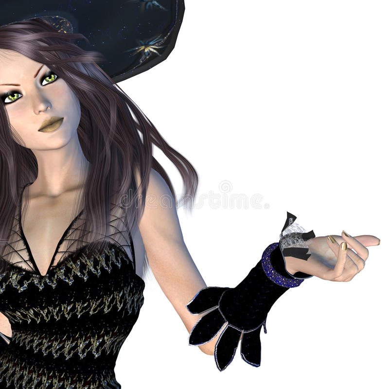 Download Witch In Black Hat Royalty Free Stock Image - Image: 33020096