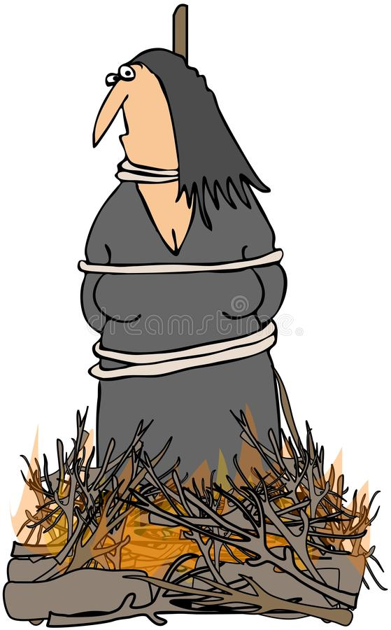 Download Witch Burning stock illustration. Image of tied, punishment - 20031424