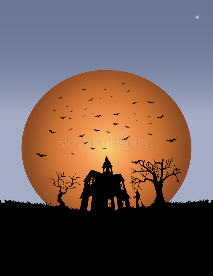 Download Witch castle stock vector. Image of moon, backgrounds - 14266733